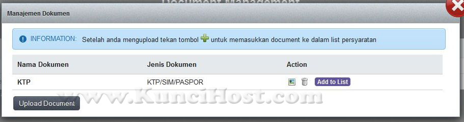 cara upload dokumen domain ID