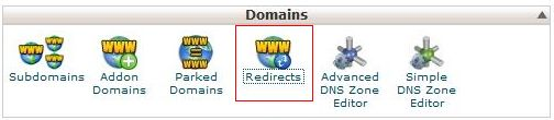 cara redirects domain